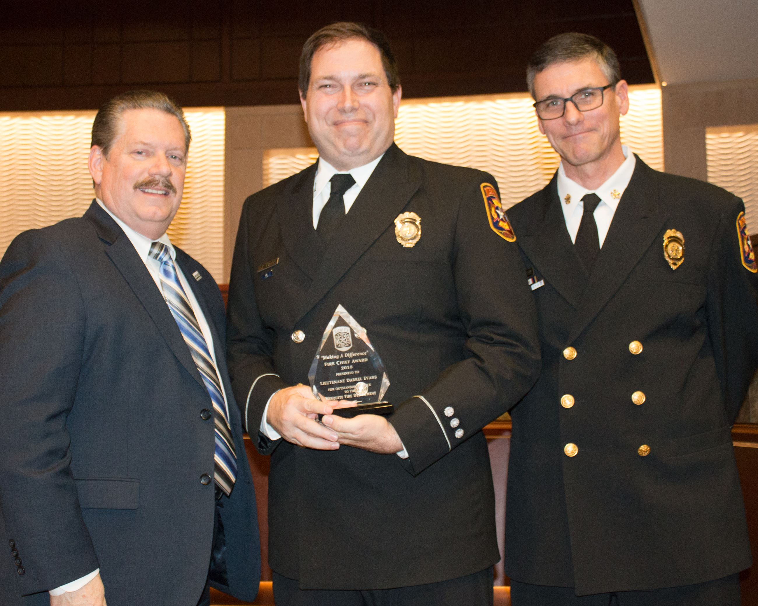 2018 Fire Chiefs Award - Lt Darrel Evans