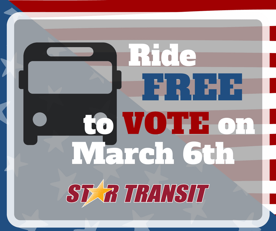Ride FREE to Vote
