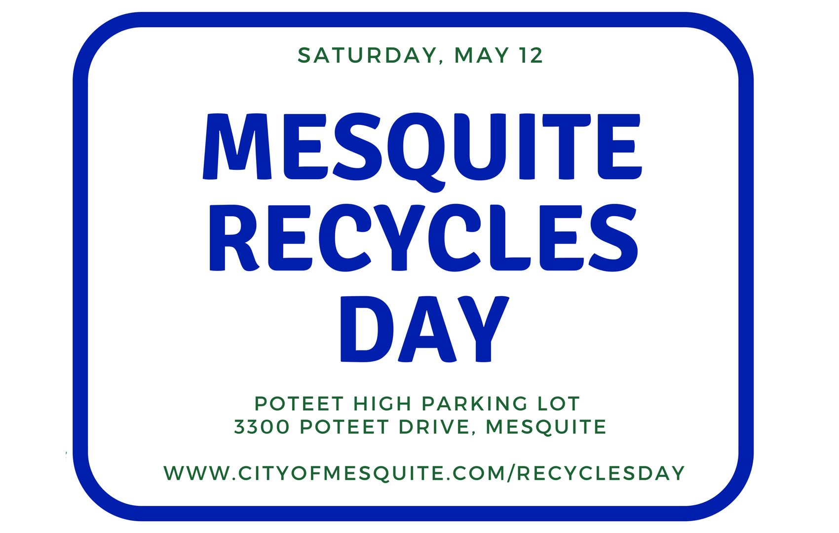 mesquite recycles day