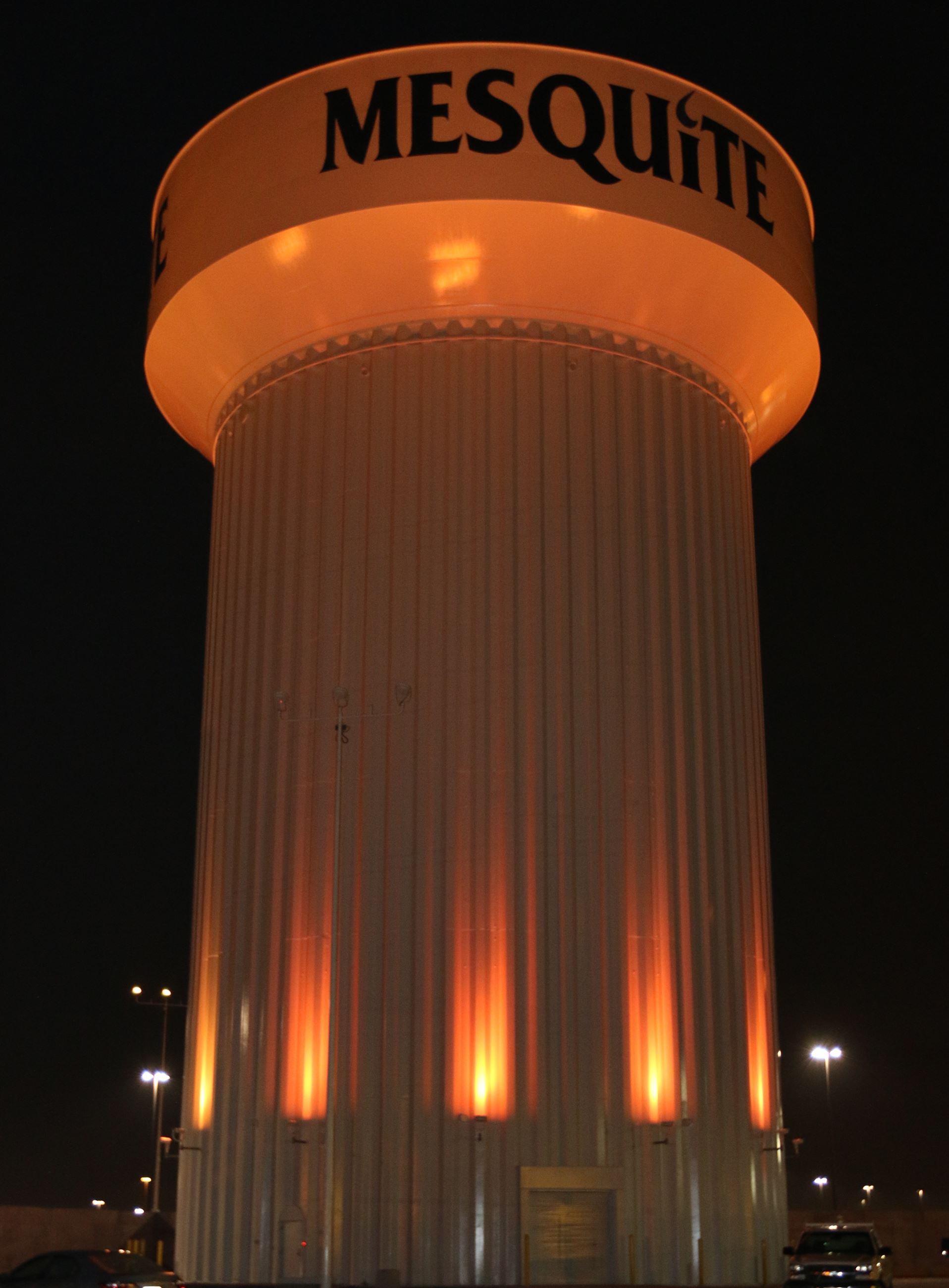 Orange water tower