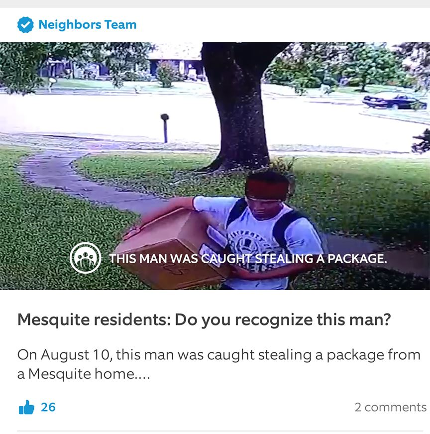Neighbors app example