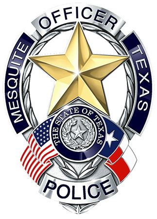 Mesquite Police Badge-Social Media