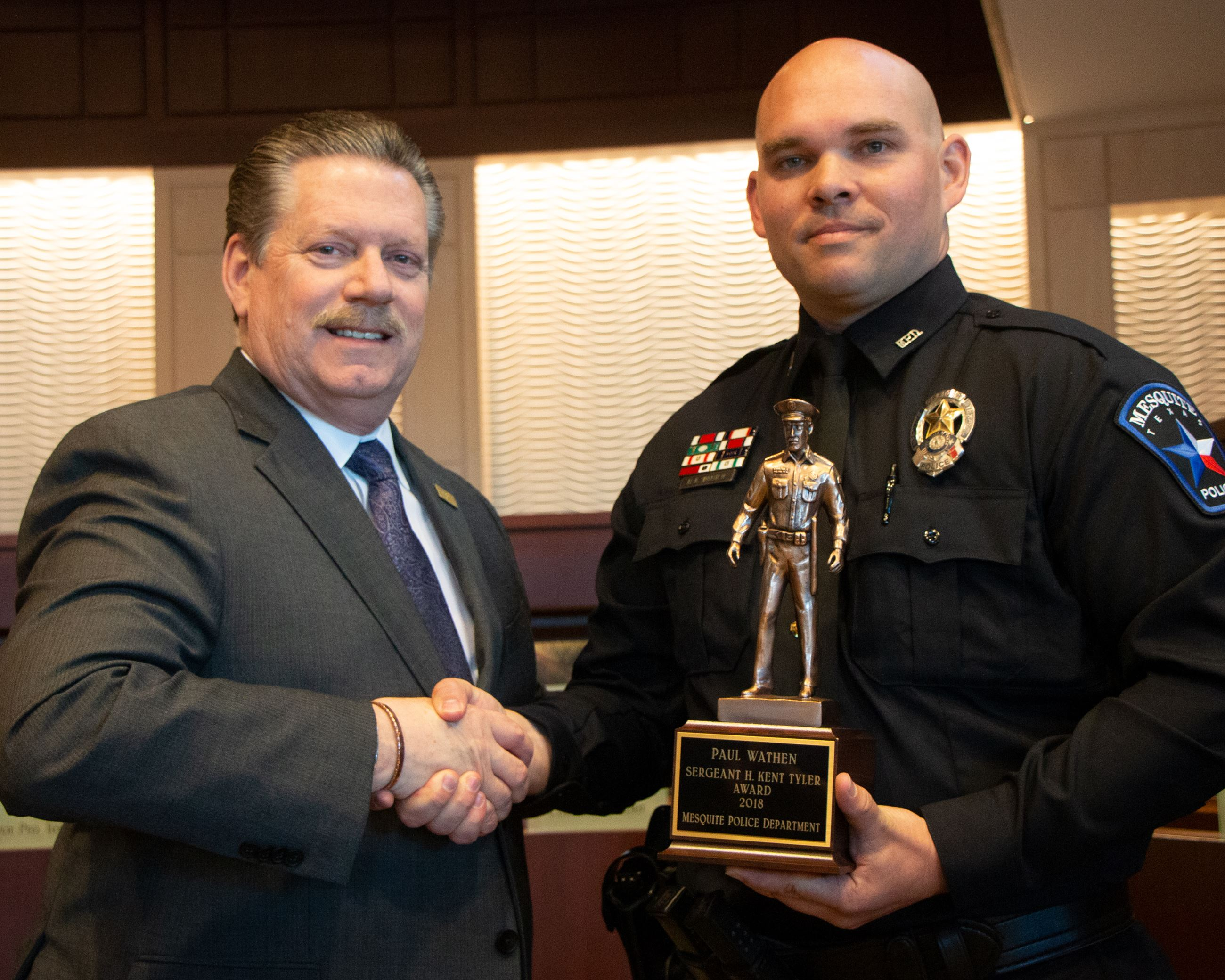2019 Officer of the Year - Paul Wathen