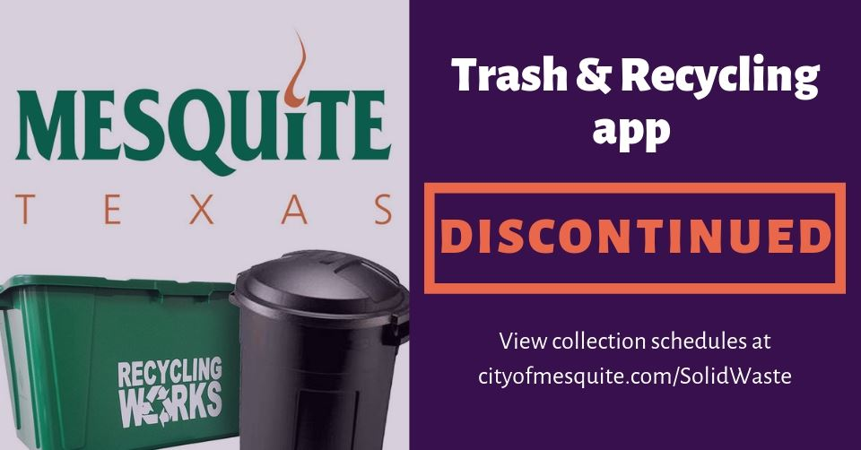 Trash_recycling app discontinued