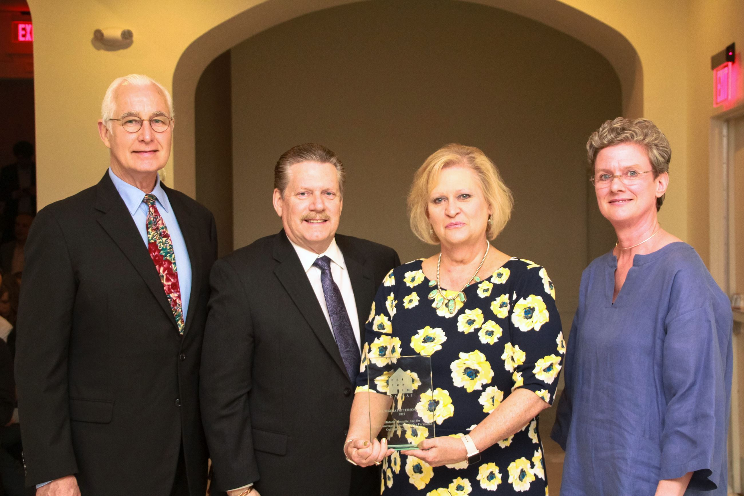 Ron Siebler, Mayor Mike Anderson, Charlene Orr and Joanna Hampton