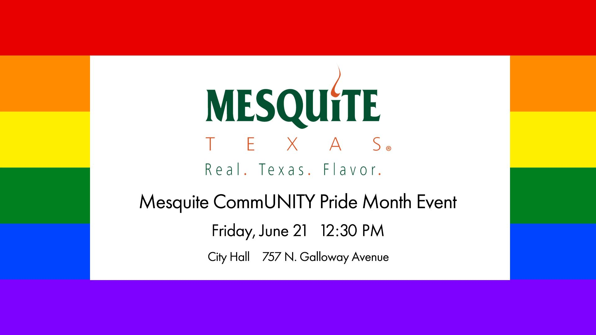 2019 Mesquite CommUNITY Pride Event