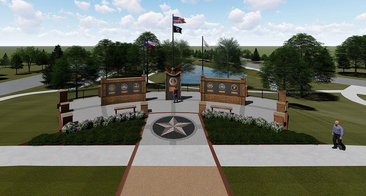 Mesquite Veterans Memorial  - Overview of Plaza