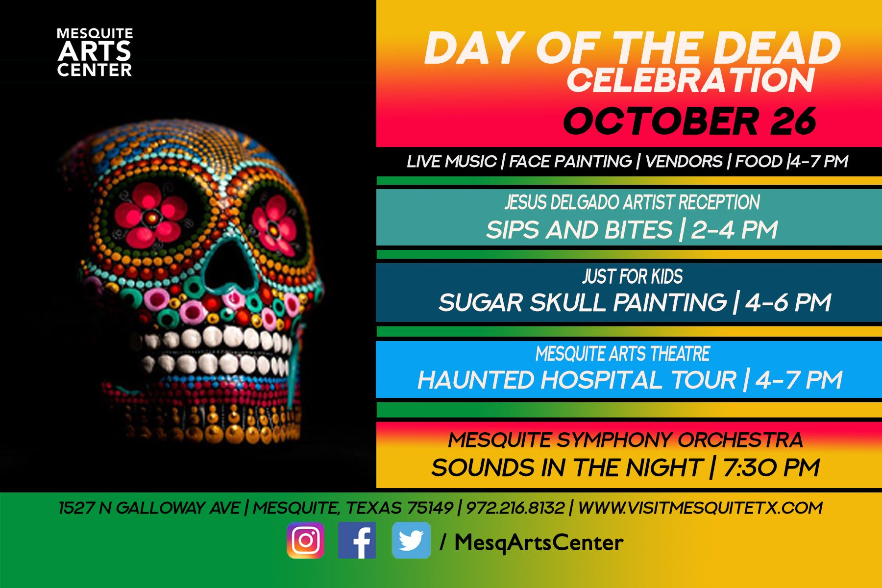 2019.10.26 Day of the Dead 4 x 6 Flyer