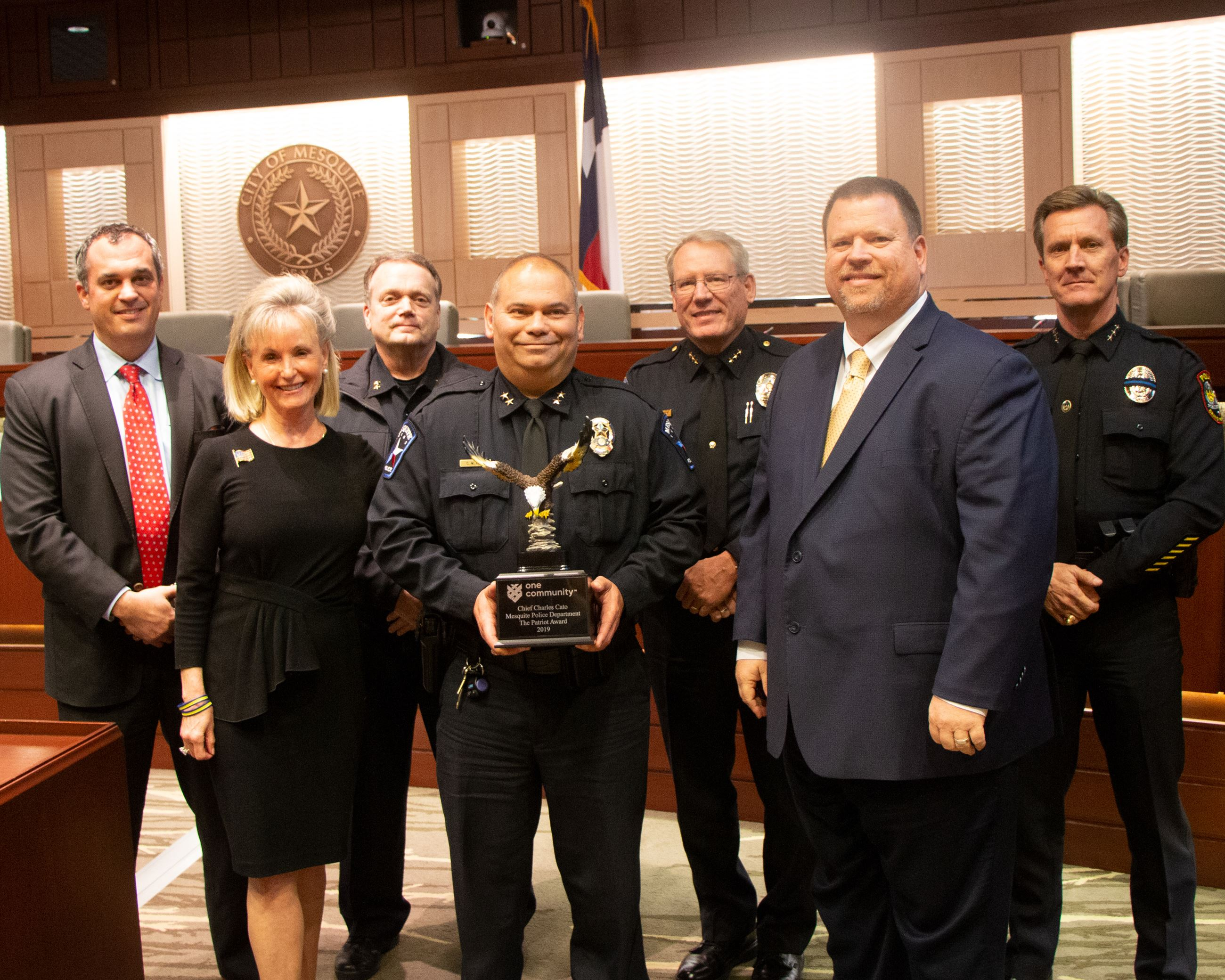 Police Chief Charles Cato receives 2019 One Community Award - Mesquite TX