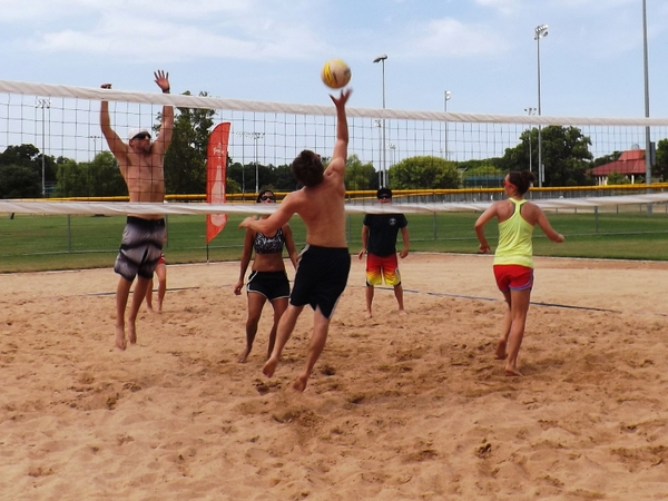 sand volleyball people