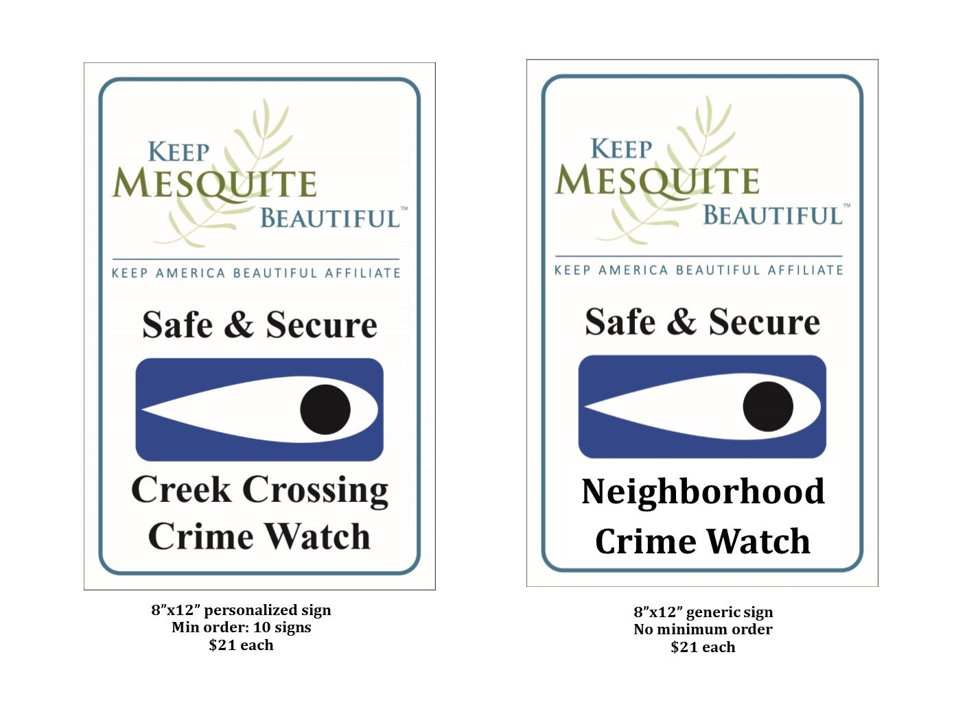 Safe & Secure Signs