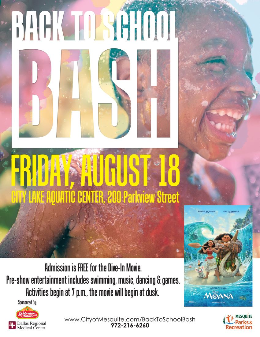 BACK TO SCHOOL BASH- Poster