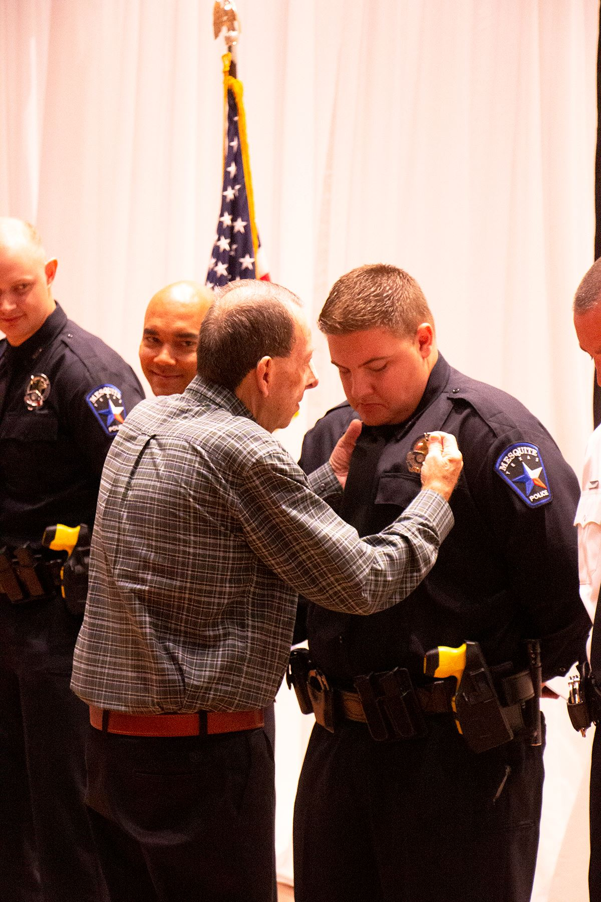 11-8-19 Mesquite PD Academy Grad Reed Rose pinned by grandfather and former MPD officer 72-91 George