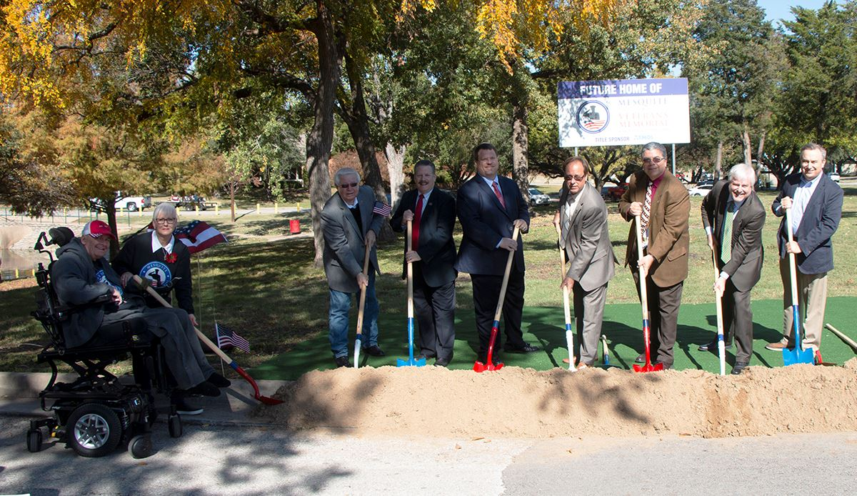 11-9-19 Mesquite Veterans Memorial groundbreaking - Design Committee - City Council - City Mgr