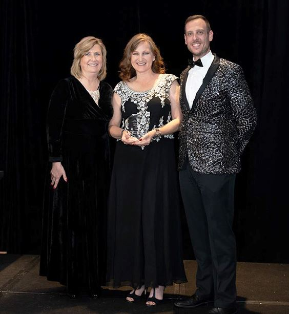 2019 The Hotel Assoc-Partner of the Yr-Kim Limon-Assoc VP - Jessica McClellan-CVB Mgr - Scott Perlmu