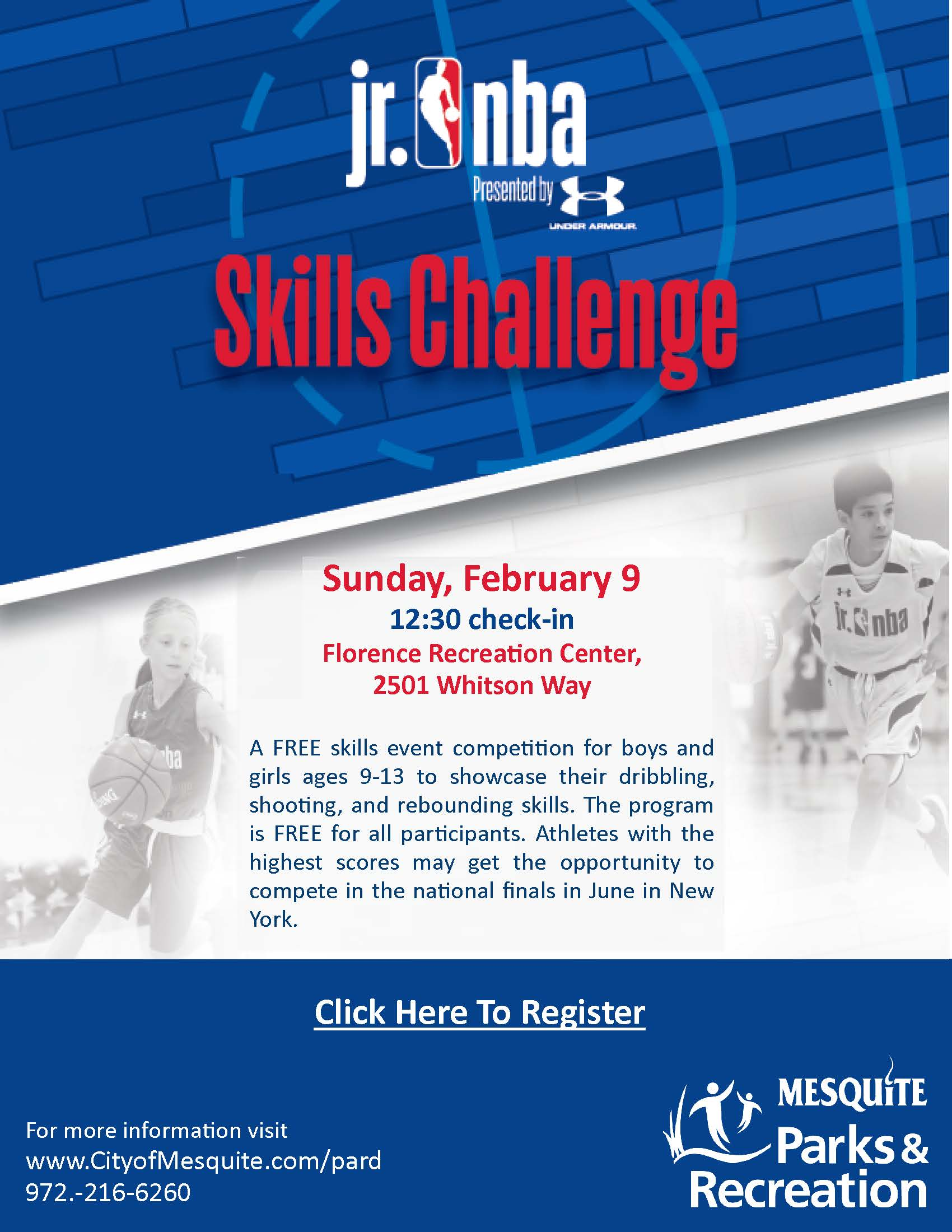 NBA jr skills flyer