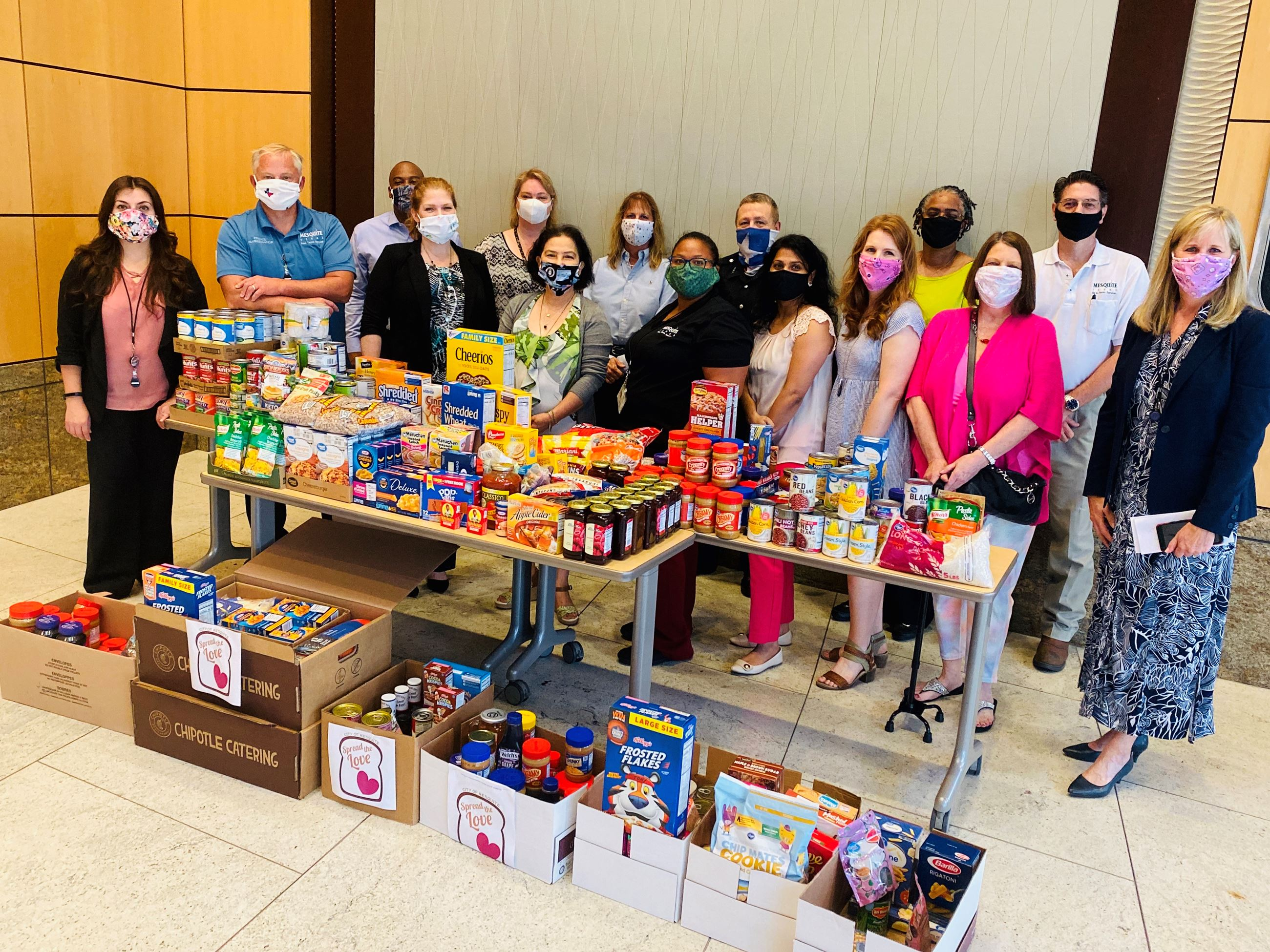 6-29-20 City of Mesquite Finance Dept employees donate to local food pantries