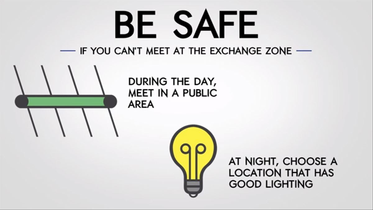 Mesquite Police Dept - Internet Thefts - Be Safe - Meet During the Day or At Night with Good Lightin