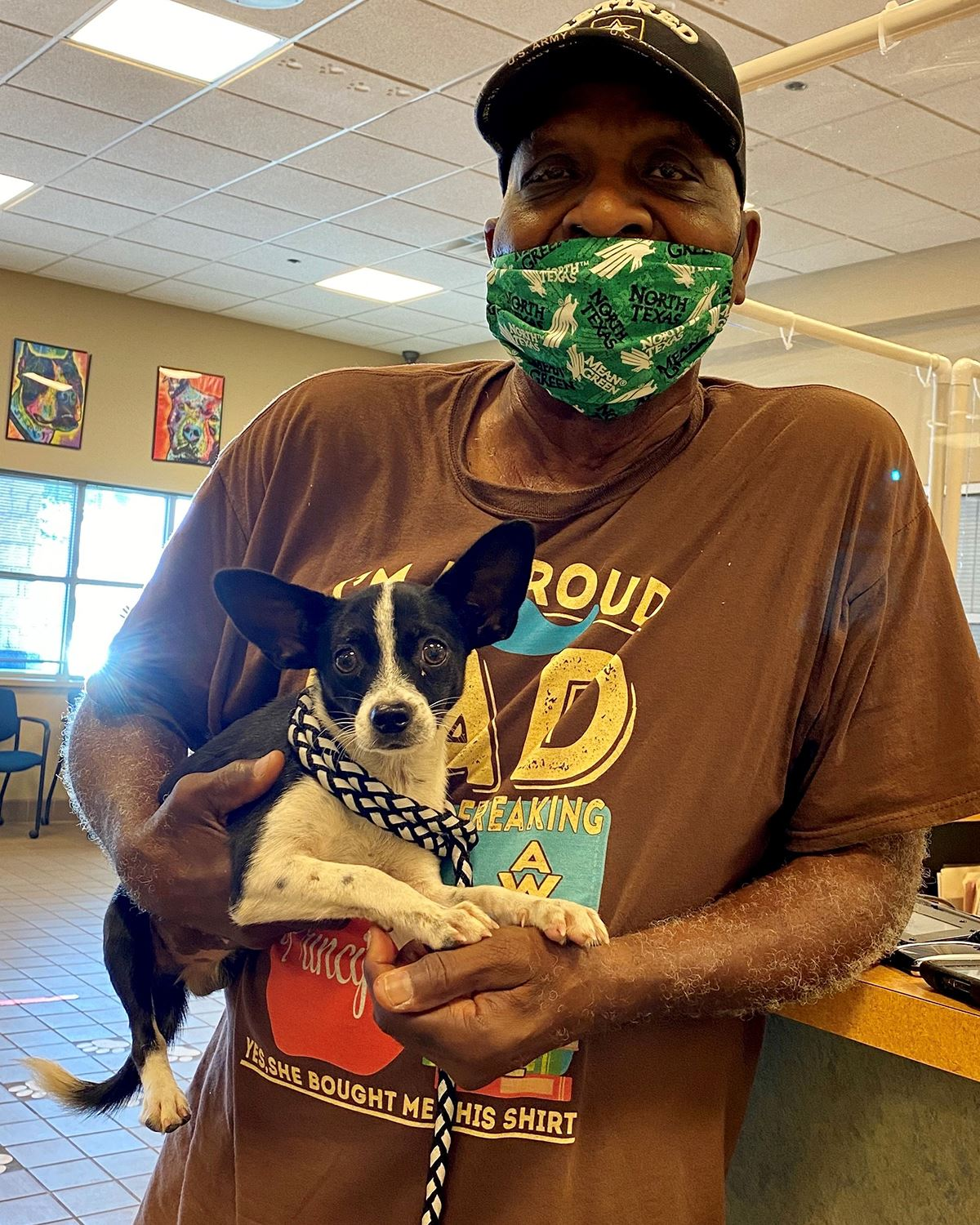 2020 Mesquite Clear the Shelters - man with dog