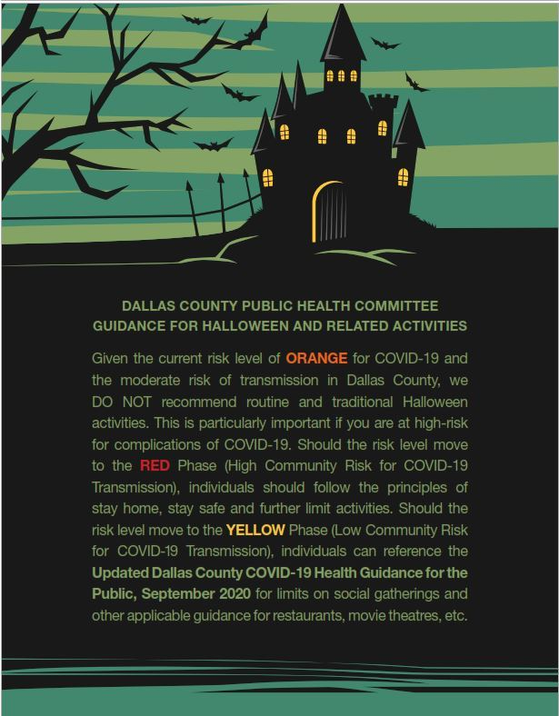 Halloween Guidelines Dallas County 2