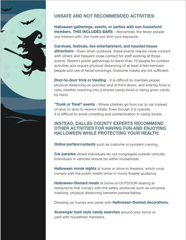 Halloween Guidelines Dallas County 3
