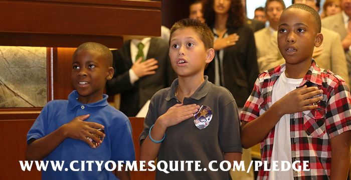 kids saying the Pledge of Allegiance