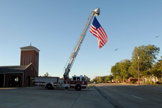 Truck 1 with U.S. Flag