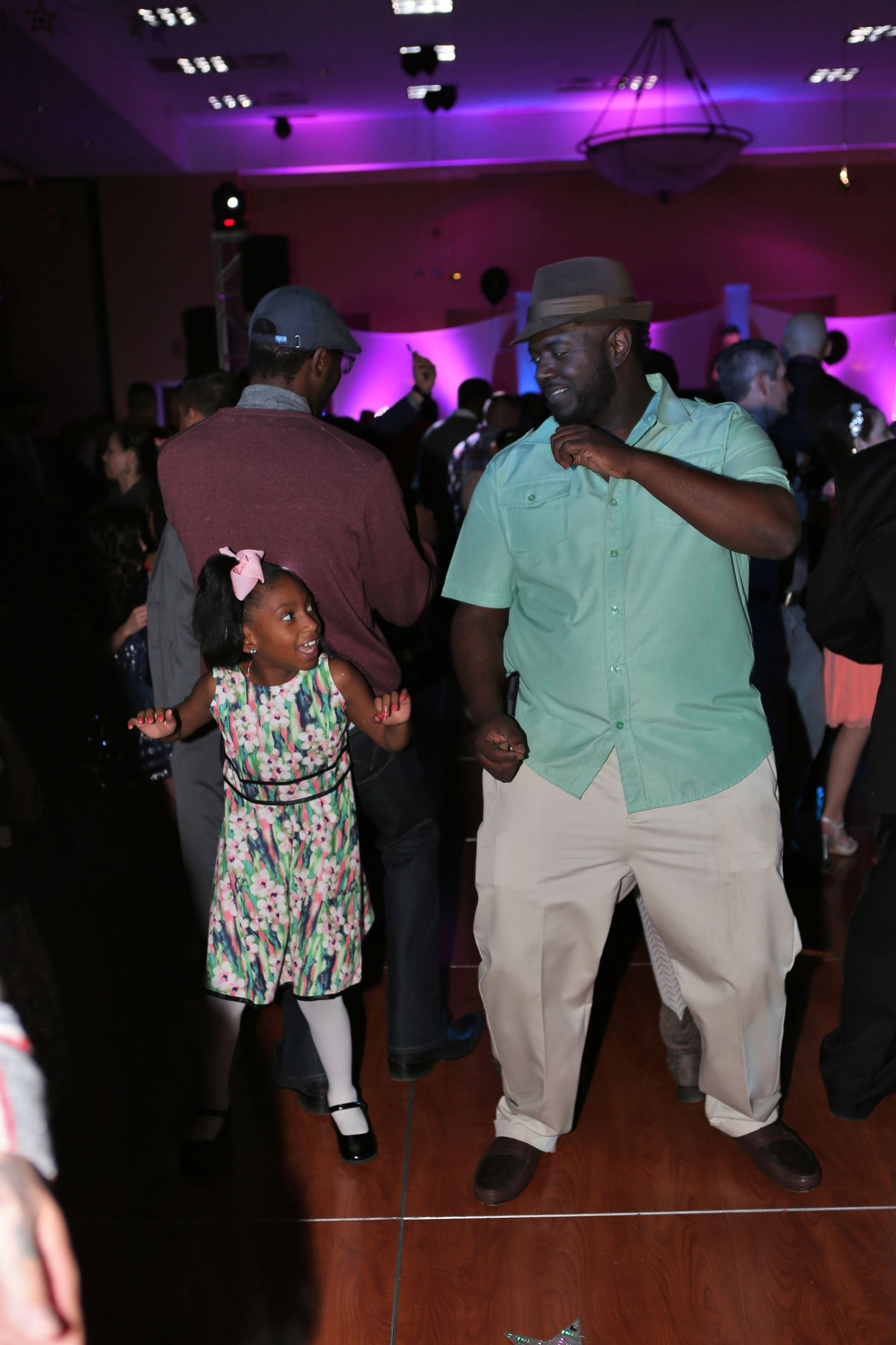 Dad and daughter at 2017 Mesquite dance